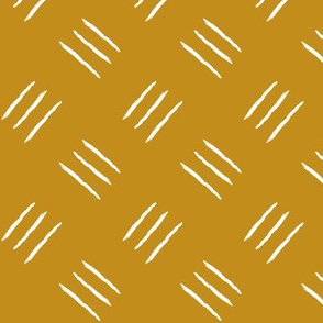mudcloth freehand  checkerplate - mustard