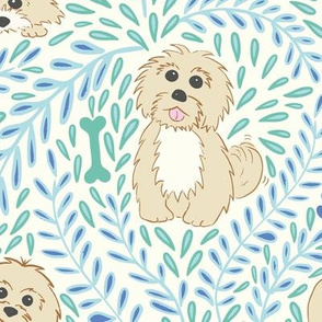 My havanese dog - blue and mint - large scale