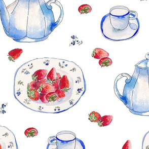 Strawberries Teaparty