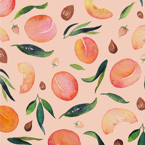 Apricot pattern pink