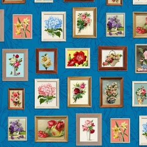 Framed Flora* (Blue Liz) || paint by number painting paintings gallery wall picture frames flowers roses