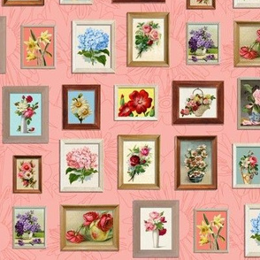 Framed Flora* (Mona) || paint by number painting paintings gallery wall picture frames flowers living coral roses