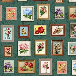 Framed Flora* (Statue of Liberty) || paint by number painting paintings gallery wall picture frames flowers roses
