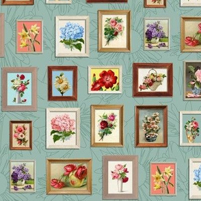 Framed Flora* (Camouflage) || paint by number painting paintings gallery wall picture frames flowers roses