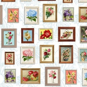 Framed Flora* || paint by number painting paintings gallery wall picture frames flowers roses