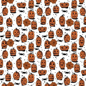 SMALL - pumpkins // halloween kids cute scary spooky october fall autumn fabric