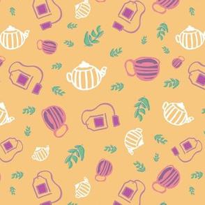 tea seamless repeat pattern design.