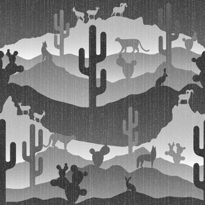 Sonoran Desert Landscape Grey