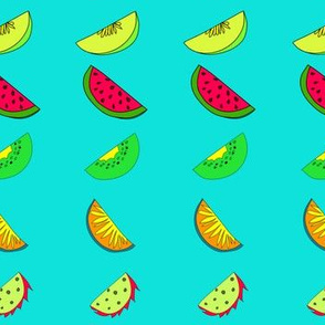Hand drawn colorful fruit pattern design