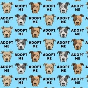 "(3/4"" scale) adopt me - pit bulls on blue C19BS"