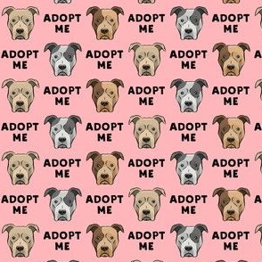 "(3/4"" scale) adopt me - pit bulls on pink C19BS"