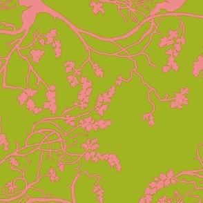 Cherry Blossom Coral _ Green