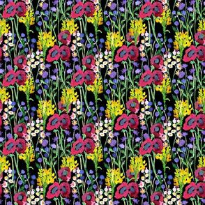Dark Watercolor Wildflowers