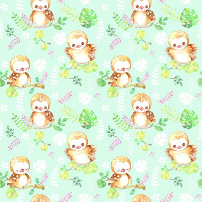 green aloha baby owl
