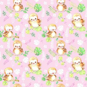pink aloha baby owl