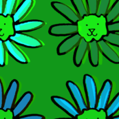 Green Daisy Cat Flower