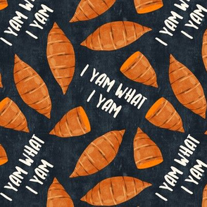 I am what I yam - blue - thanksgiving - fall - LAD19