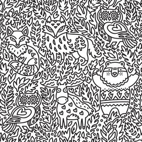 Forest animals_coloring