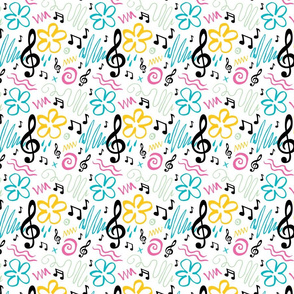 90s Inspired Music Treble Clef