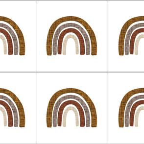 6 loveys: cinnamon + mocha linen rainbows // cinnamon, mocha, 19-16, 13-2