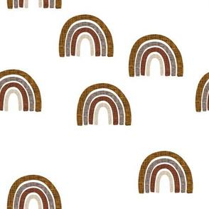 scattered cinnamon + mocha linen rainbows // cinnamon, mocha, 19-16, 13-2