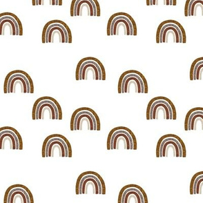 small scattered cinnamon + mocha linen rainbows // cinnamon, mocha, 19-16, 13-2