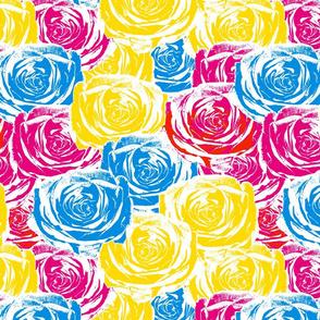 Splashy Spring Roses