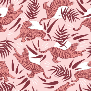 Pink Tigers and Bamboos