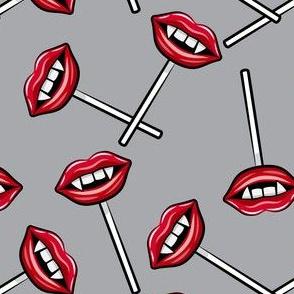 Vampire Lips Suckers- grey - halloween - LAD19