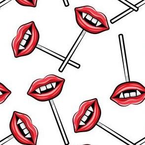 Vampire Lips Suckers- white - halloween - LAD19