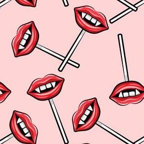 Vampire Lips Suckers- pink - halloween - LAD19