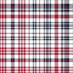 texans plaid - blue and red check, red and navy tartan, check fabric, tartan fabric, texas red and blue