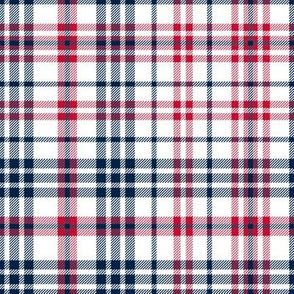 patriots plaid - new england plaid, red and navy plaid, red and navy check, patriots fabric,