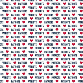 patriots fabric - navy and red fabric, sports fabric, sports teams fabric, sports