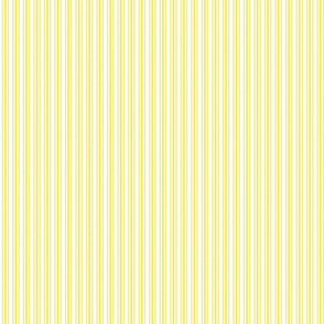 Classic Small Highlighter Yellow Pastel Highlighter French Mattress Ticking Double Stripes
