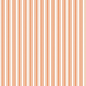 Trendy Large Orange Soda French Mattress Ticking Double Stripes