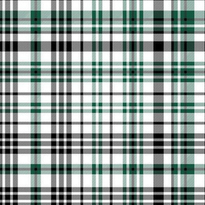 jets plaid - black and green check, black and green solid, black and green tartan