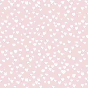 Little hearts on baby pink