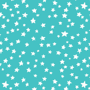 Little Stars in teal