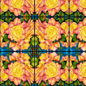 Peace Roses  Abstract Pattern