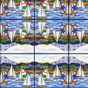 Sailboats Abstract Pattern