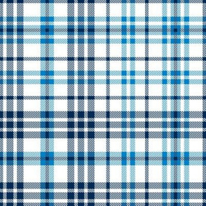 chargers plaid - black and blue plaid, black and blue check, tartan, la chargers check