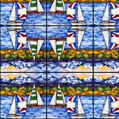 Point of Sail Abstract pattern