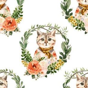 "8"" Miss Kitty Floral Wreath"