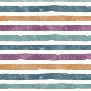 fall stripes - blue and purple - LAD19