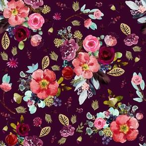 """8"""" Crimson Blooms Plum"""