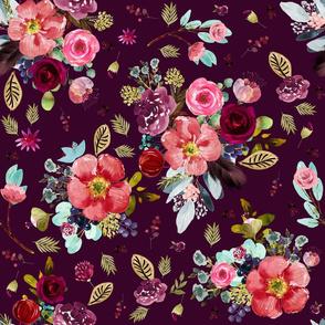 """18"""" Crimson Blooms Plum"""