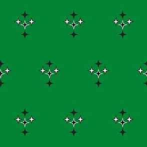 stars on the green ground