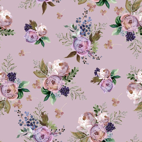 """18"""" Cold Autumn Muted Lilac"""