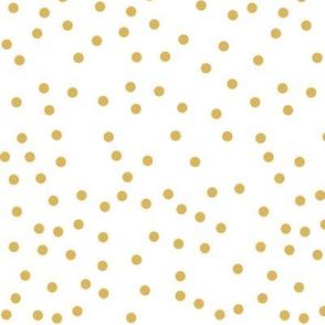 mustard white dots